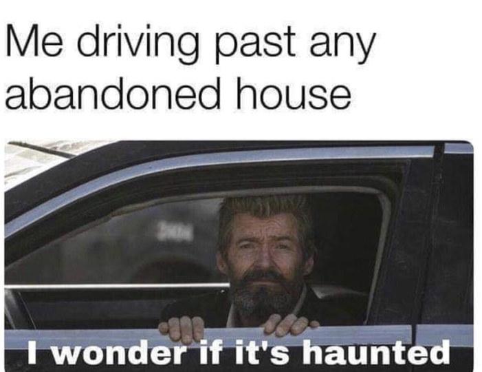 Haunted house - meme