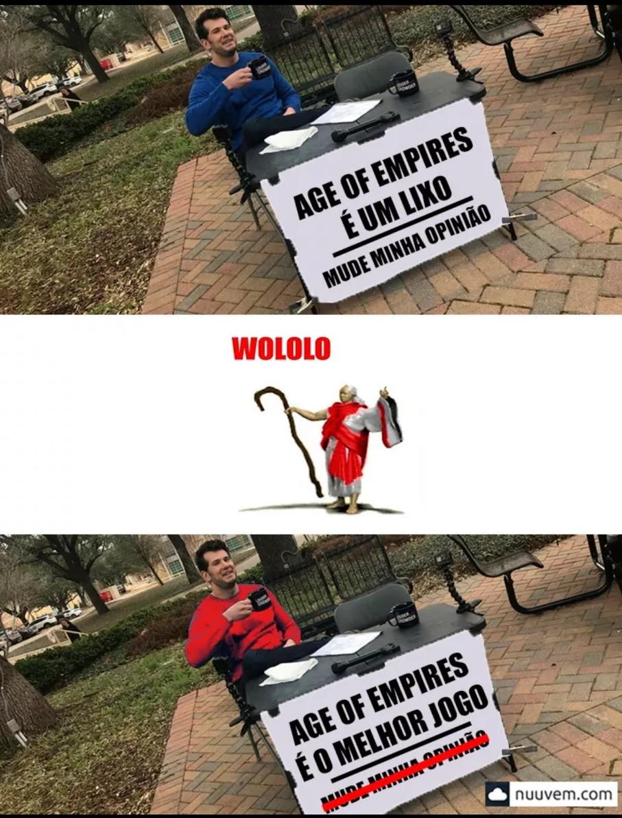 age of empires é bom pra krl - meme