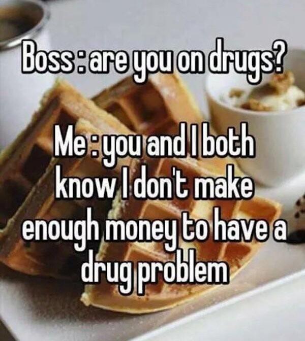 Drugs, not hugs - meme