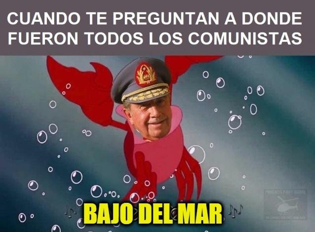 Pinochet helicopter tours - meme