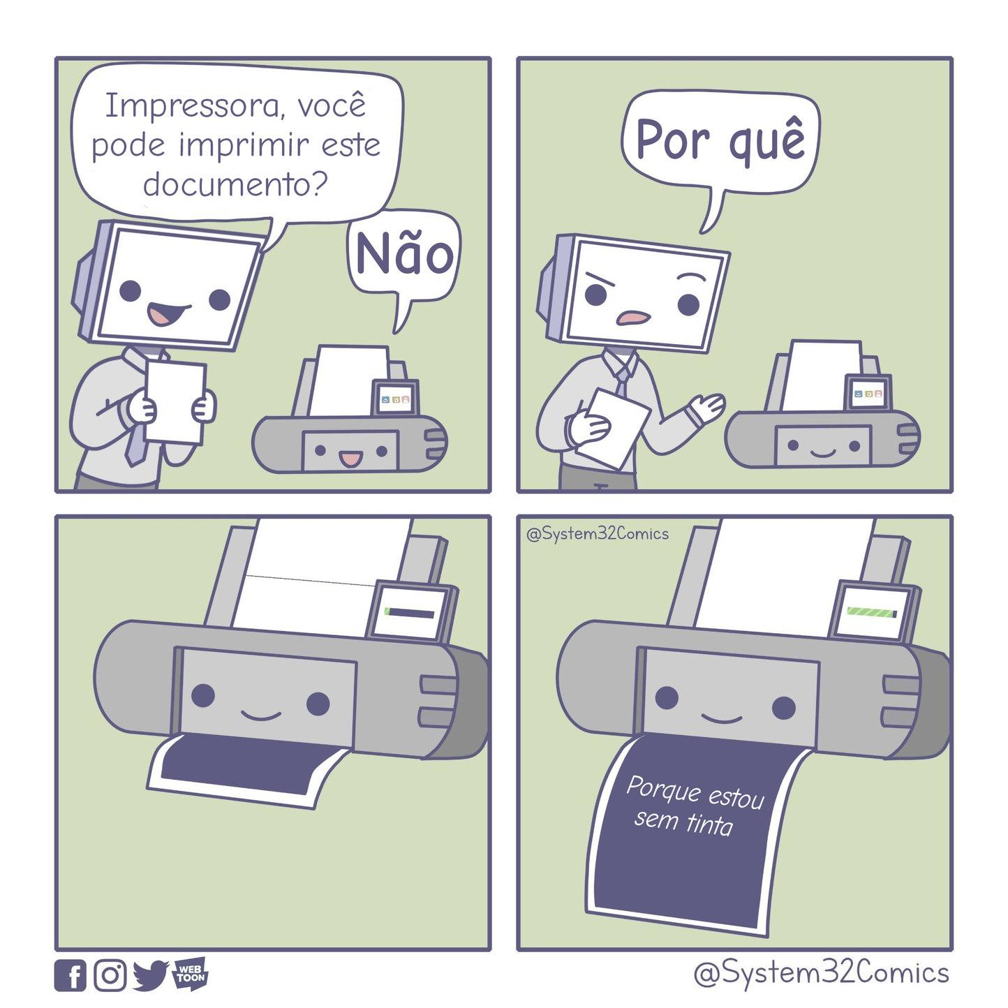 Sem tinta - meme