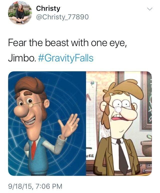 Jimmy Neutron to Gravity Falls - meme