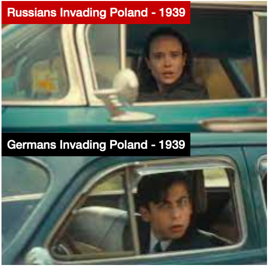 Germany and Russia Invading Poland in 1939 - meme
