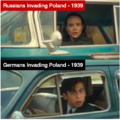 Germany and Russia Invading Poland in 1939
