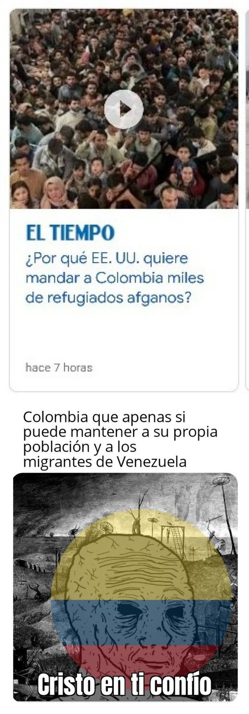 Colombia: Mucho refugiao            witheredwojalk - meme