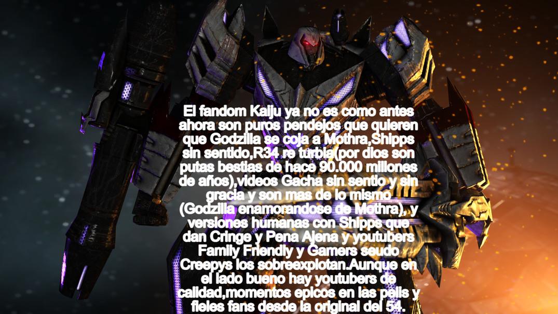 El fandom Kaiju ya esta hecho mierda aunque tambien tiene su lado bueno. - meme