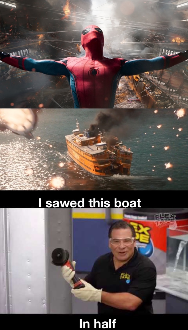 I sawed this boat in half - meme