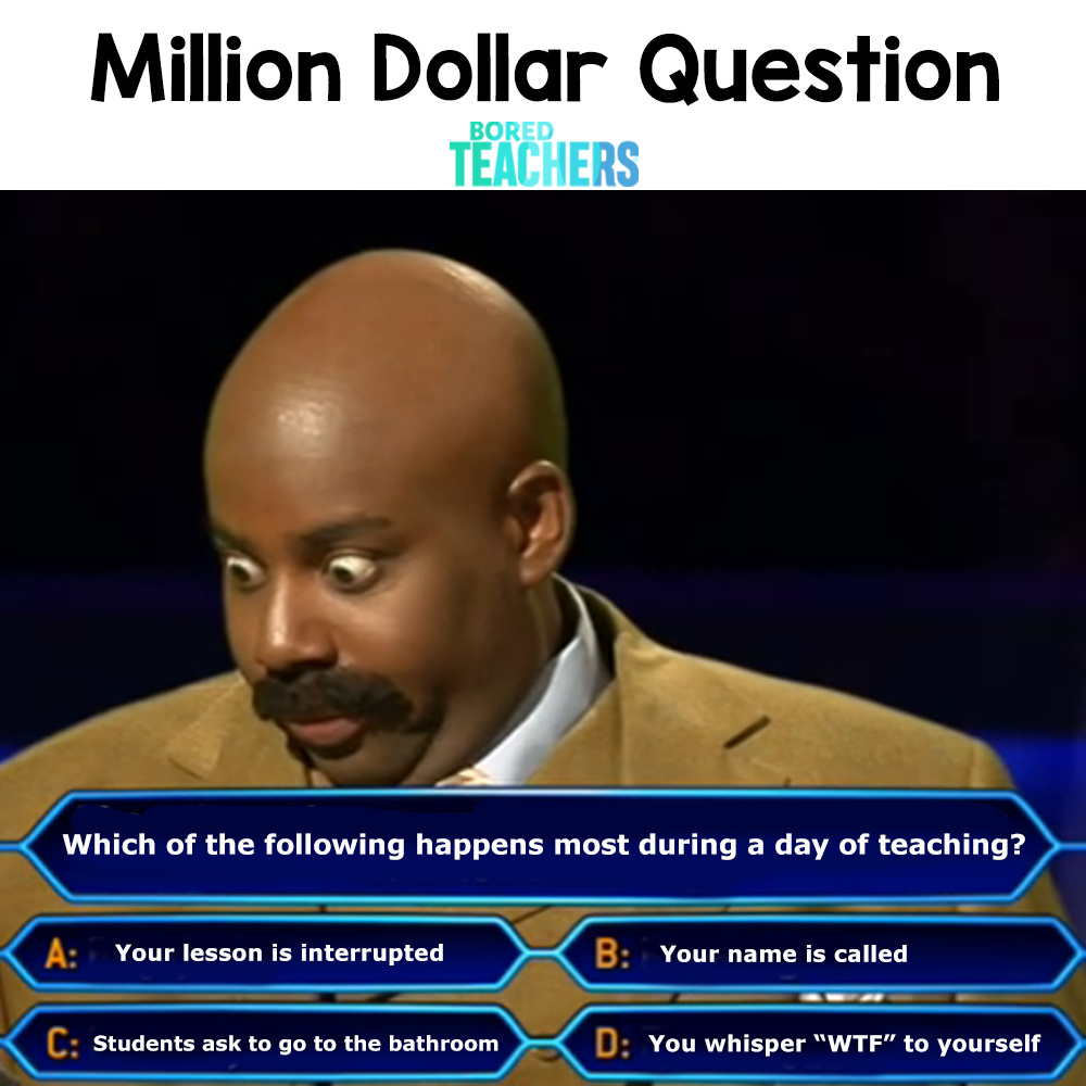 When you Give Someone A Million Dollar Question - meme