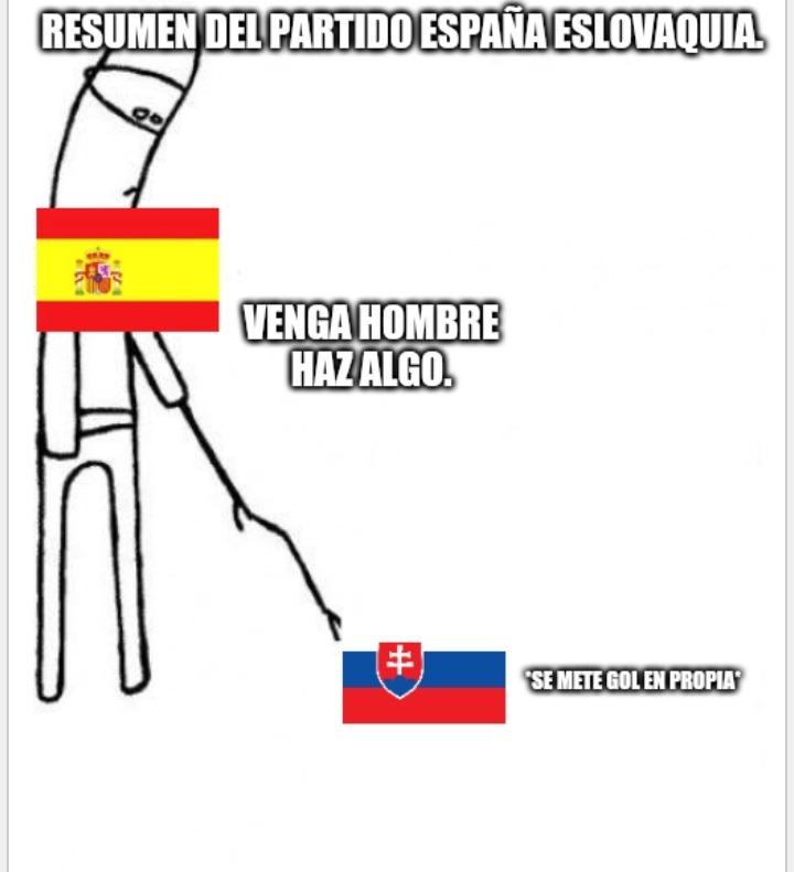 El fútbol no me va mucho, pero es que Eslovaquia lo hizo demasiado mal. - meme