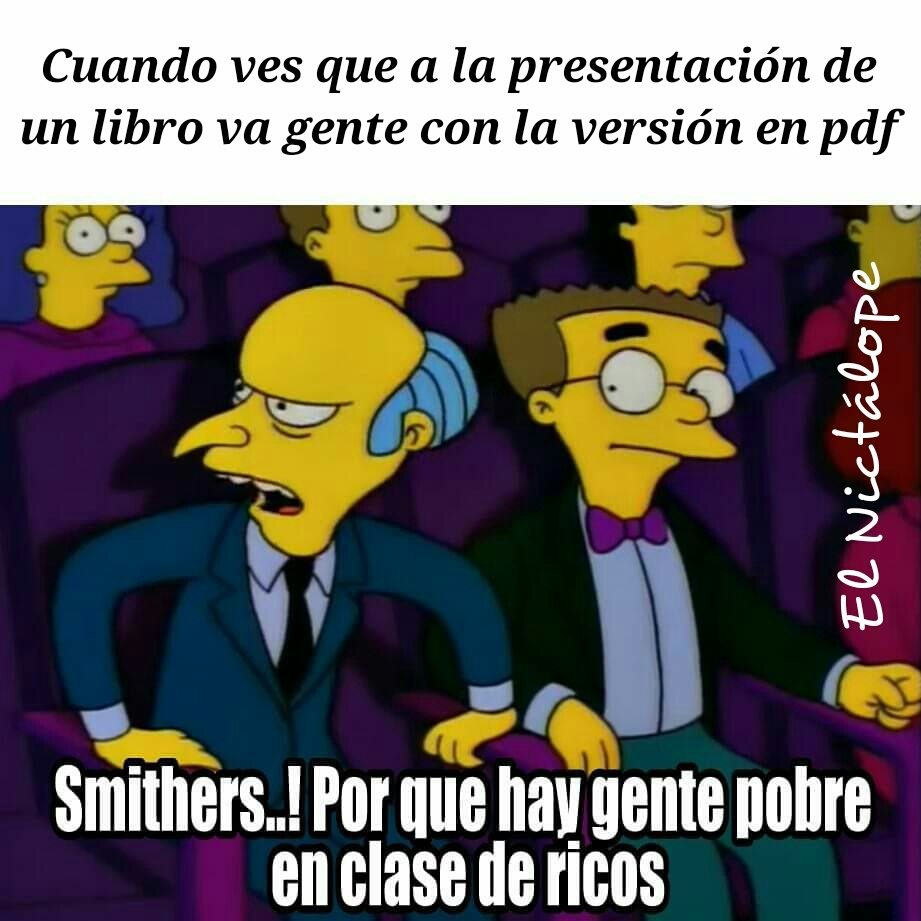 Burns libros - meme