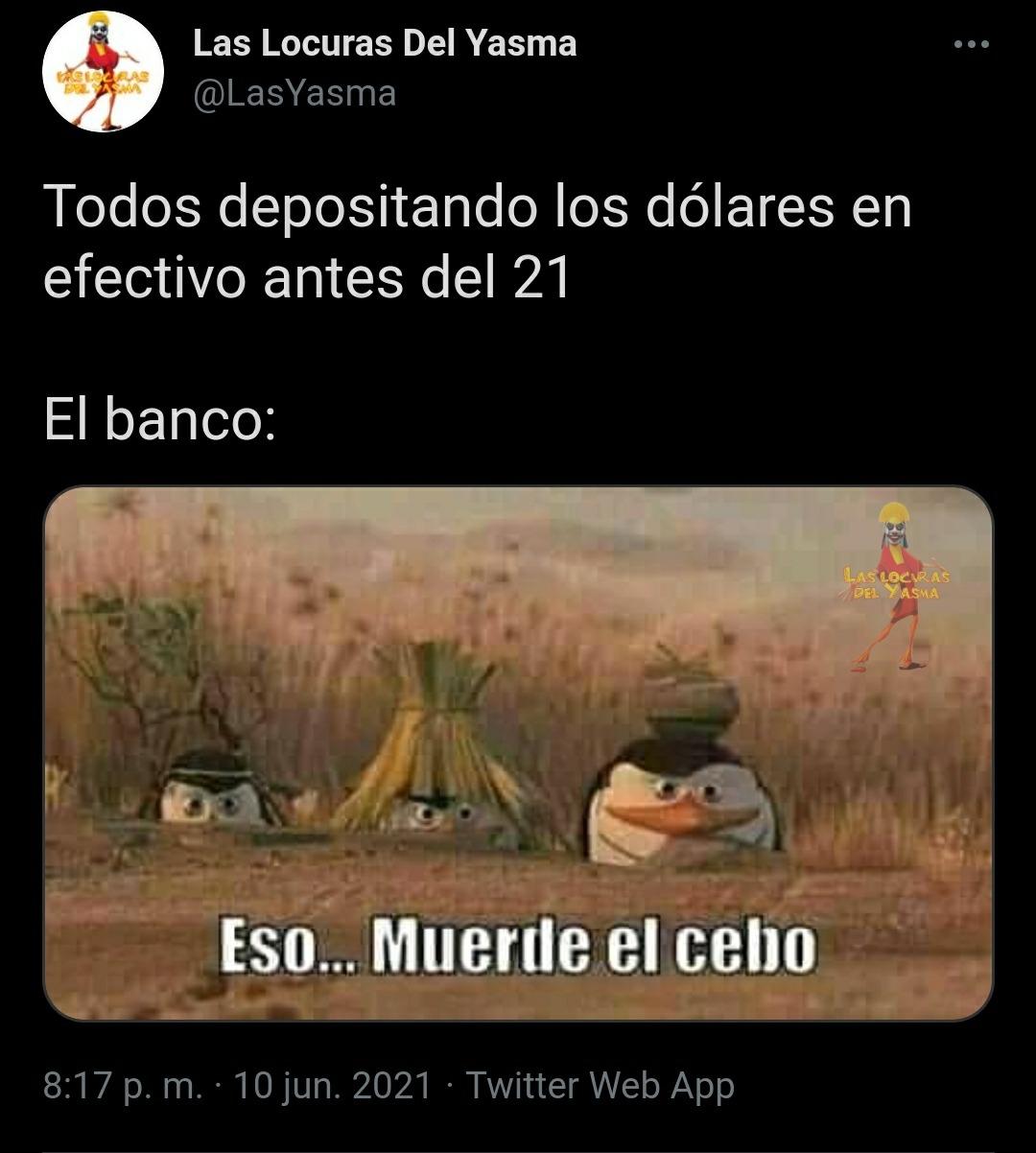 Mientras tanto el dólar en Cuba  - meme