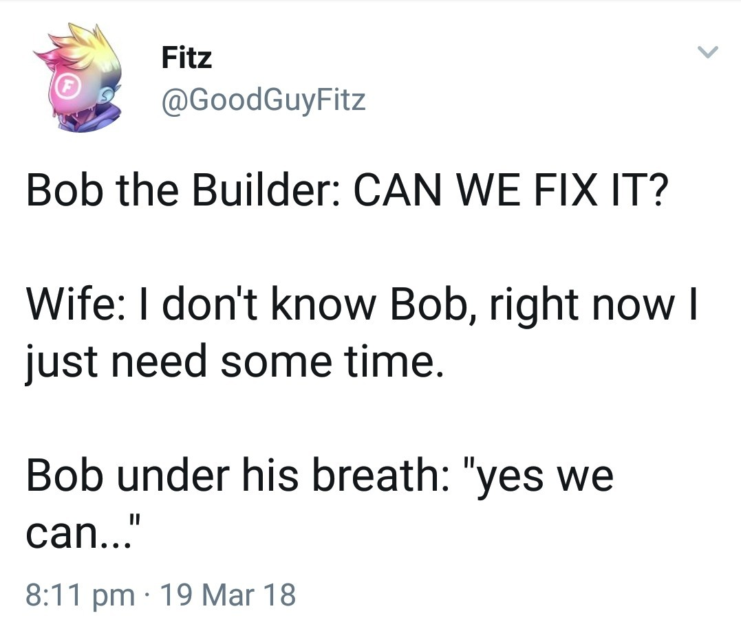 can we fix it? - meme