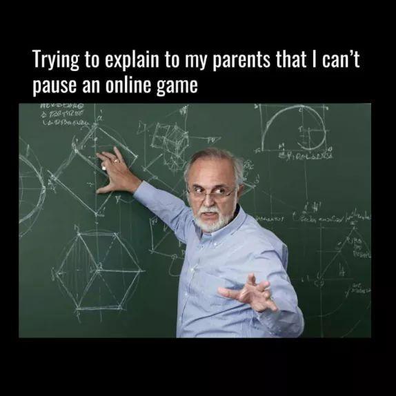 I can't mom!! - meme