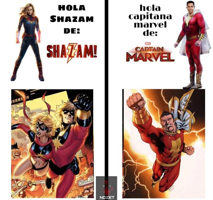 Contexto: Shazam antes era Capitán Marvel. - meme
