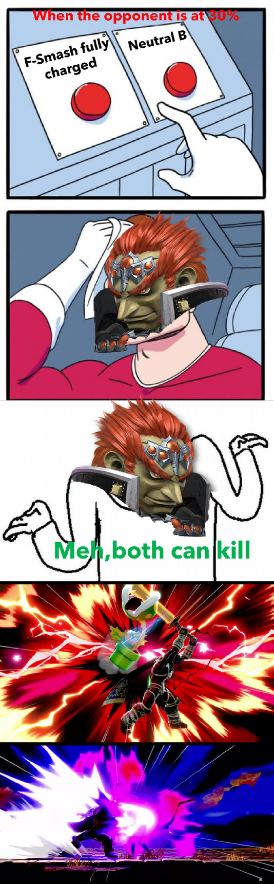 *Ganon mains in Elite Smash 2* - meme