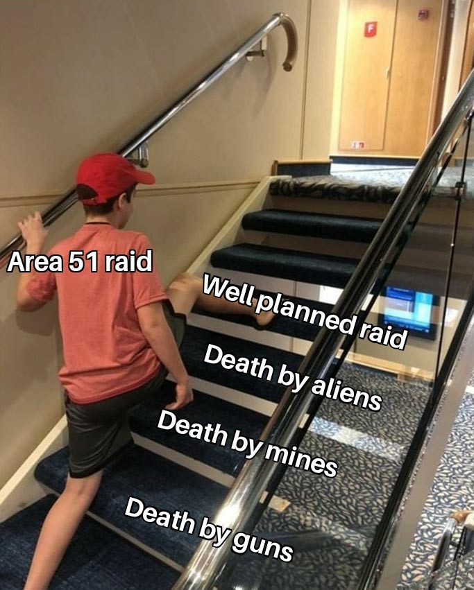 Area 51 raid planning dept - meme