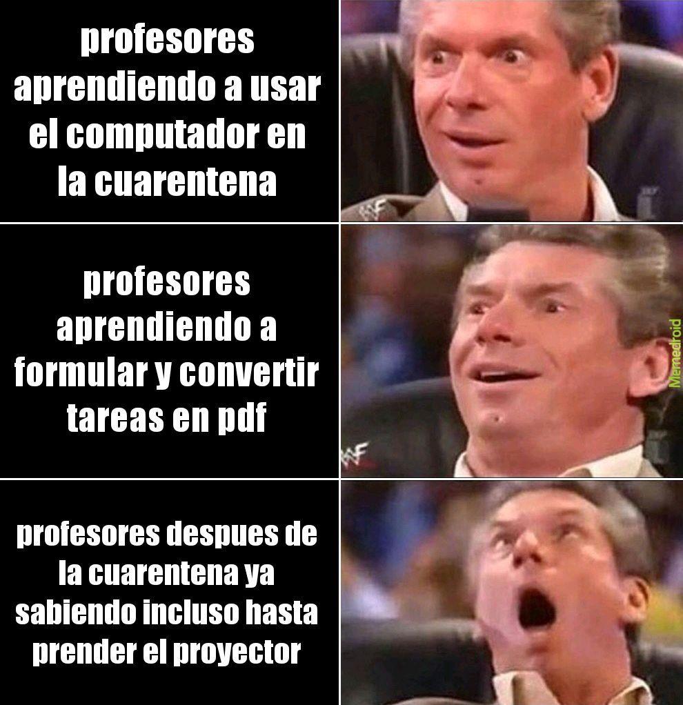 la evolucion de un profesor - meme