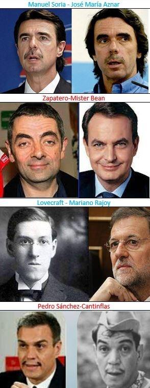 parecidos últimos 4 presidentes de españa - meme