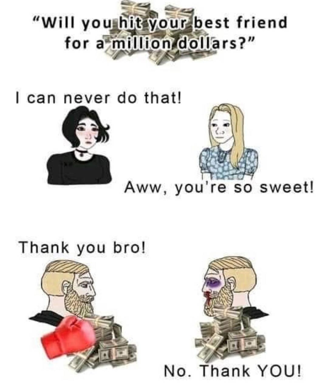Girls are dumb - meme