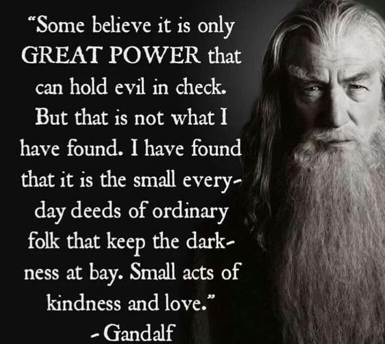 Gandalf is wise. - meme