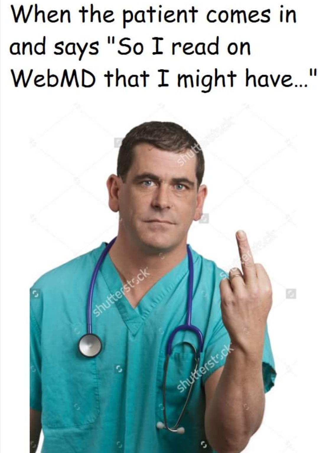 You dead -Webmd- - meme