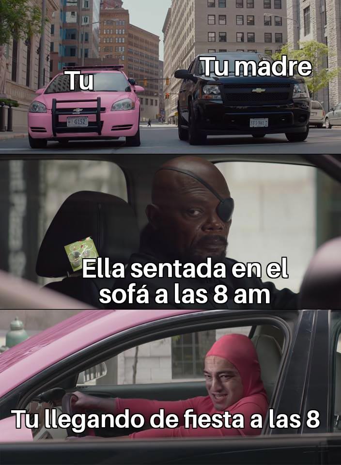 Acostumbrate mamá - meme