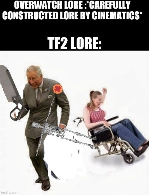 The said overwatch will be the death of tf2 XD - meme