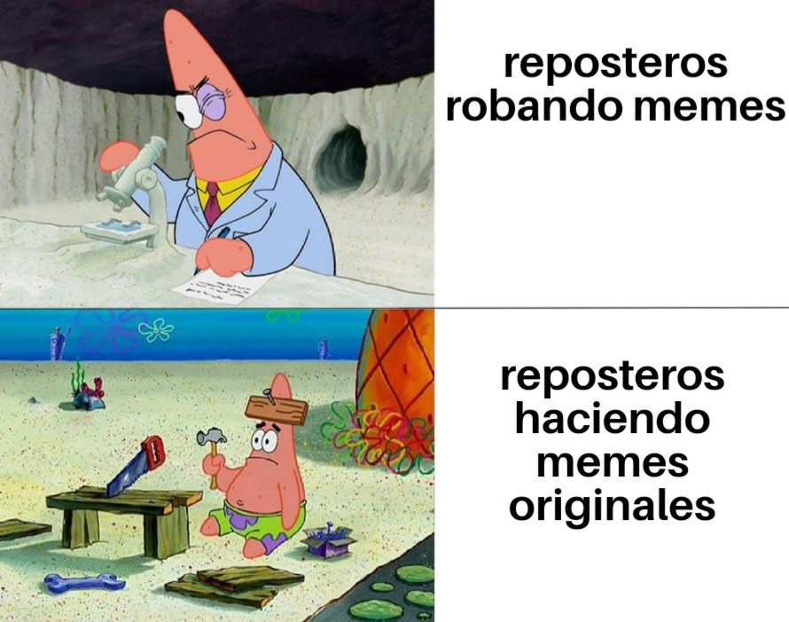 repostero que roba memes :soyjak: repostero que hace postres :chad: