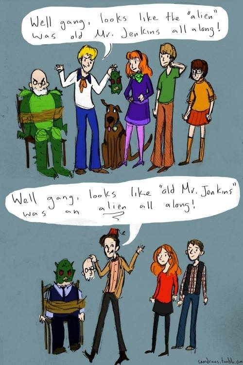 Scooby Doo VS Doctor Who - meme