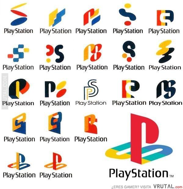 Evolucion del simolo de play station - meme
