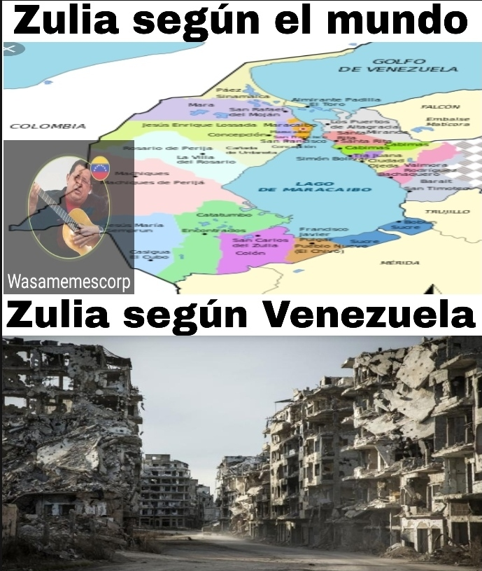El Zulia era el estado más rico de Venezuela por qué en el lago hay mucho petróleo, maldito chavez - meme