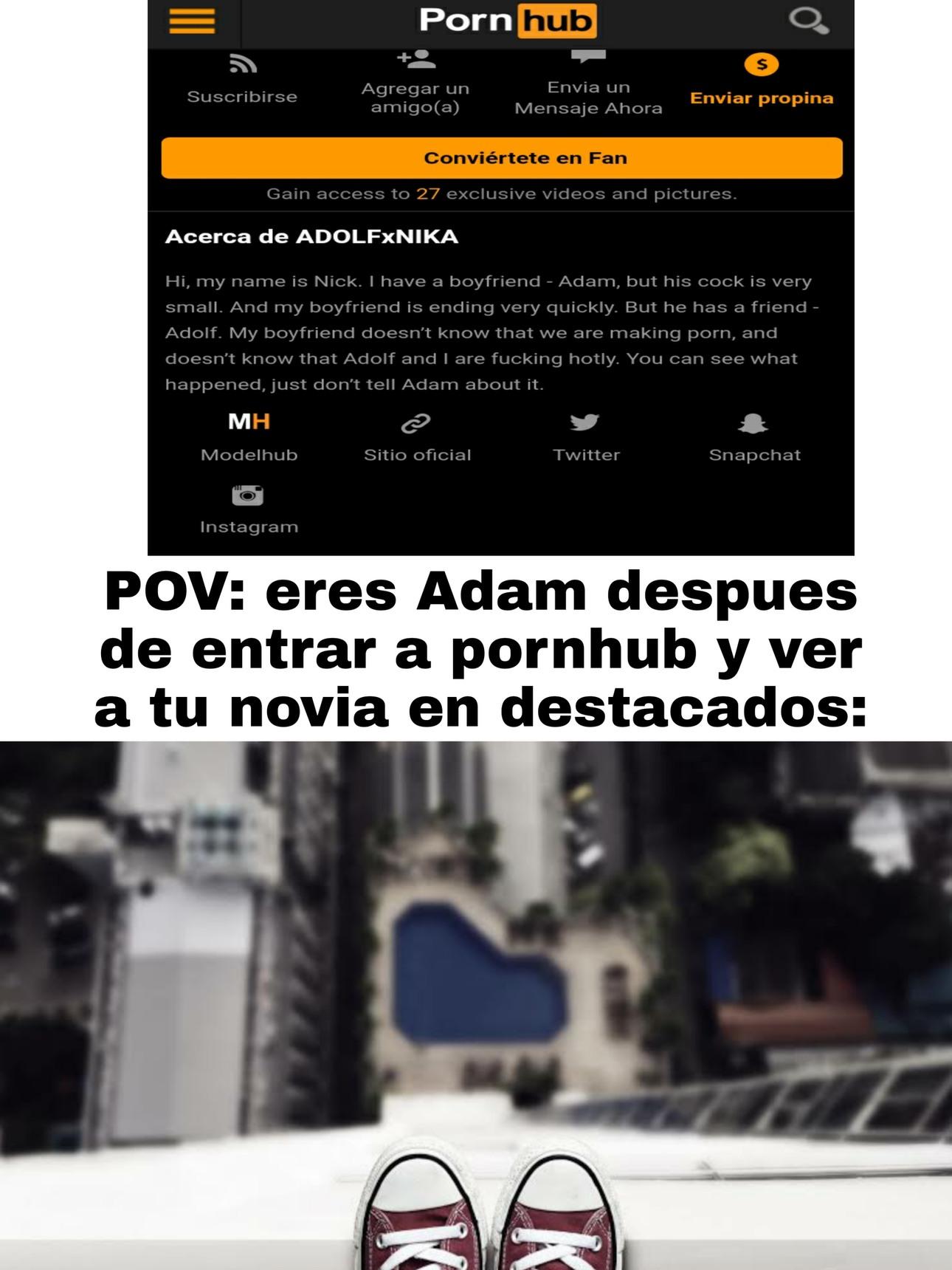 Pobre Adam - meme