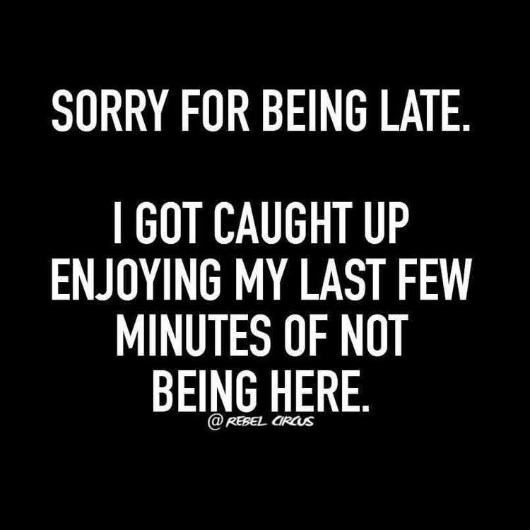 sorry I'm late - meme
