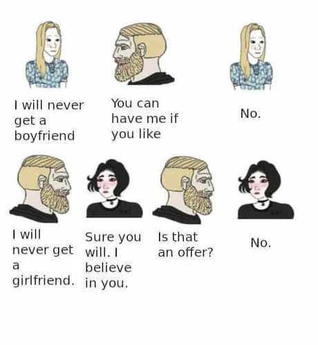 Society: True, you won't - meme