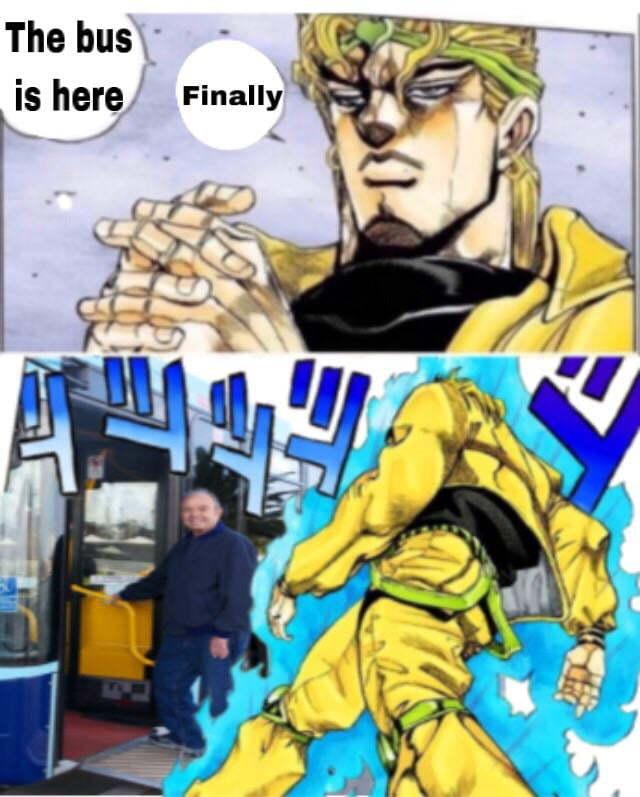 Enfin ! Le bus est arrivé ! - meme