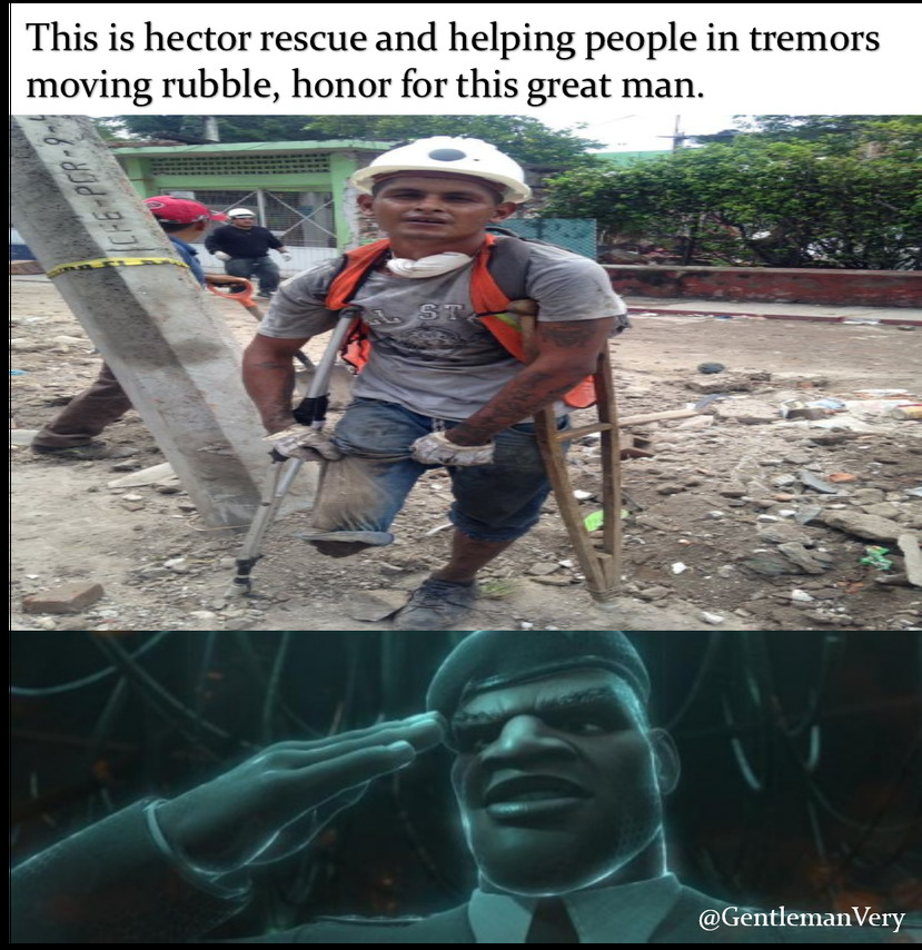 Honor for real world heroes. - meme