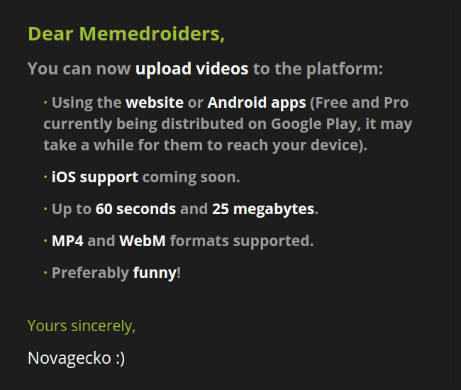 Full video support is here! - meme