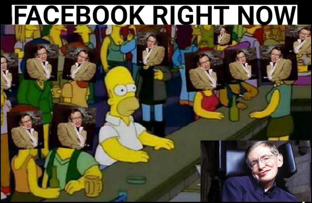 RIP Stephen Hawking - meme
