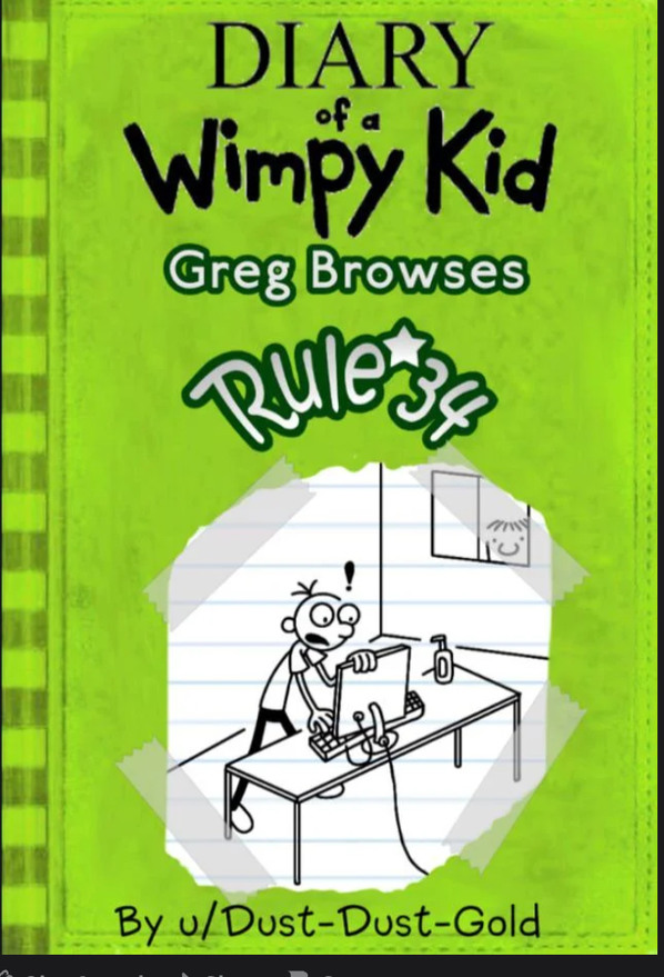 reddit.com/r/LodedDiper/comments/l4n5oz/diary_of_a_wimpy_kid_greg_browses_rule_34_full/ - meme