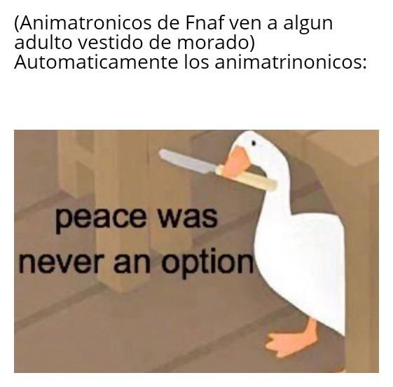Hecho por fan de FNAF - meme