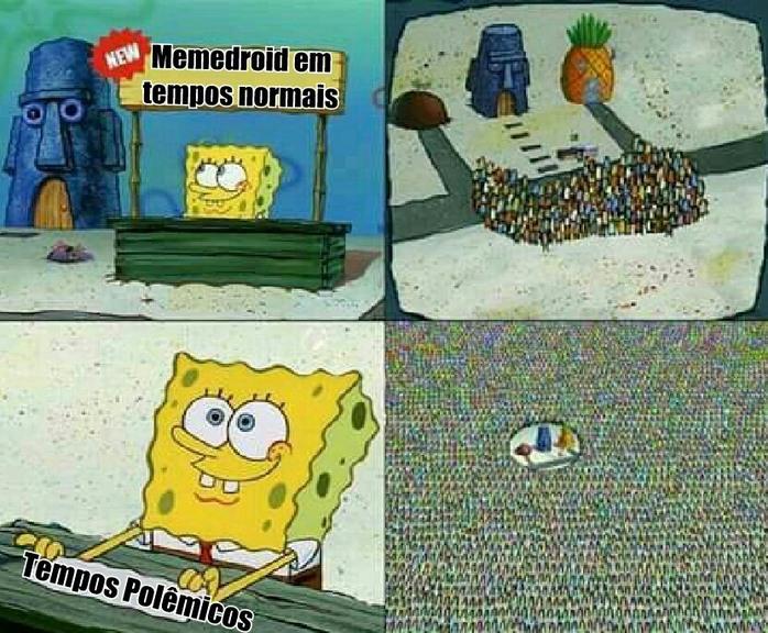 Quando vc vai dar aquela conferida na Galeria do Mmd e só tem um meme novo...