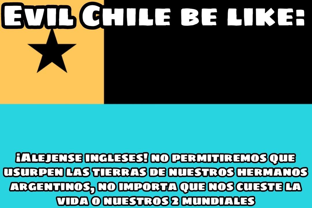 Evil Chile be like: - meme