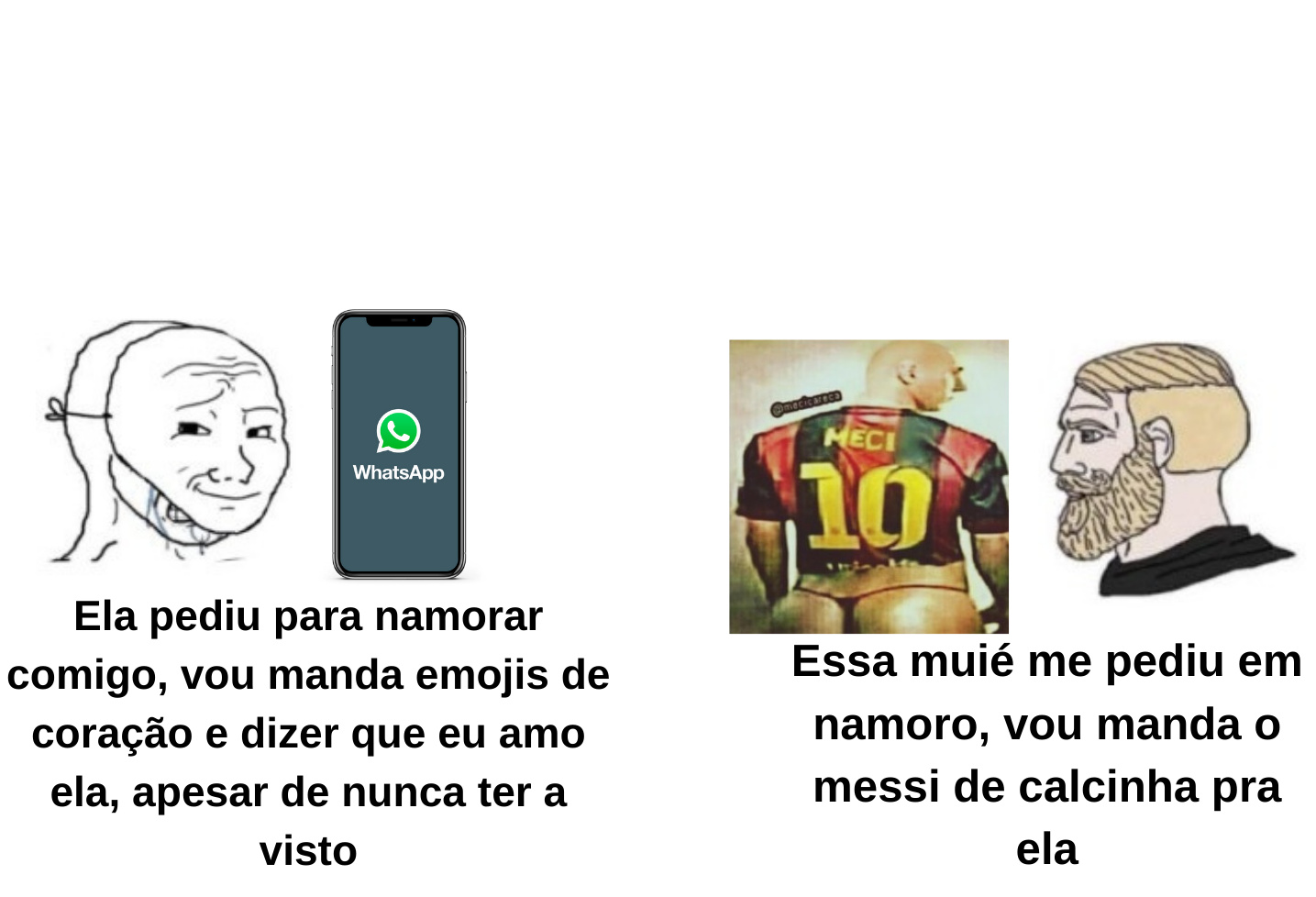 Messi de calcinha no zap - meme