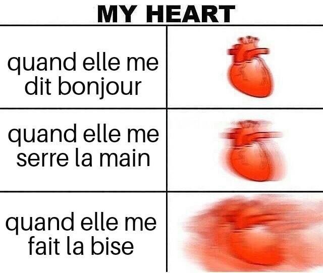 Un bisou c'est l'infarctus - meme