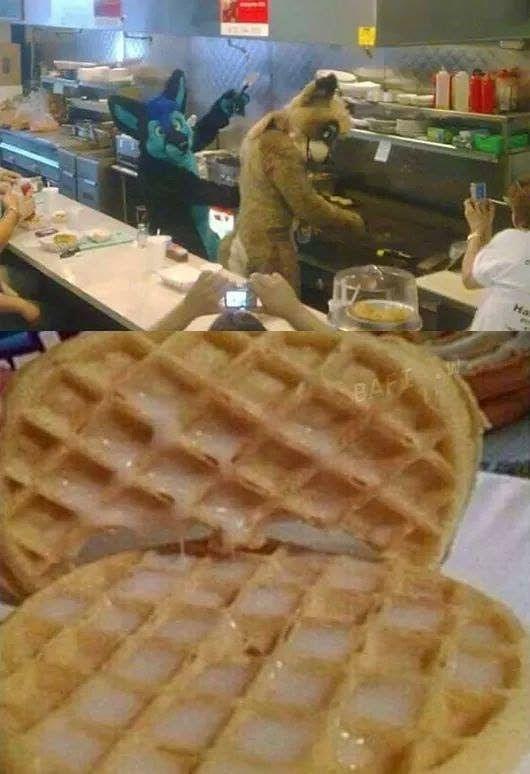 Yeah un pene waffle - meme