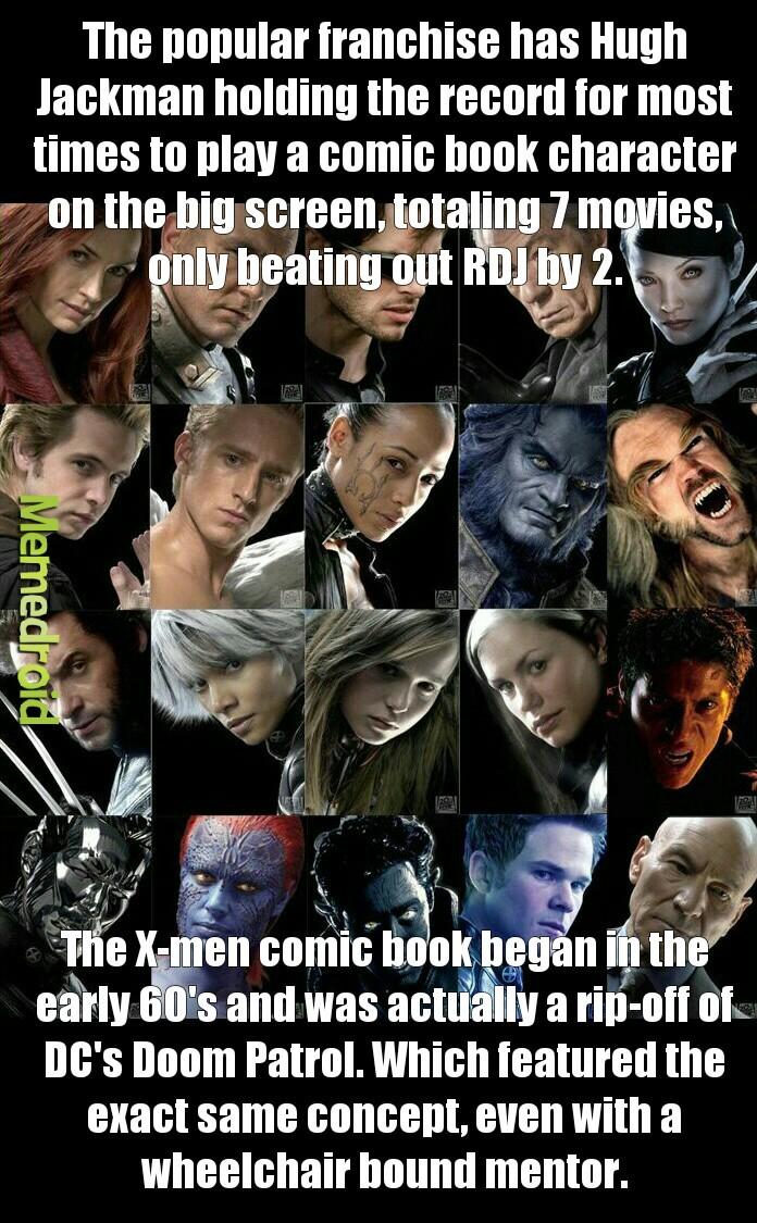 The X-men Franchise (2000-????) - meme