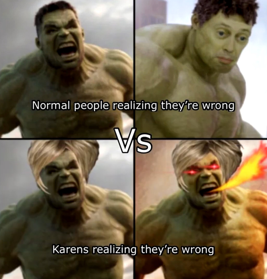 Normal people vs. Karens - meme