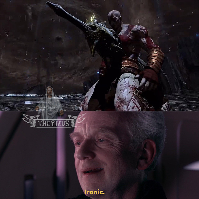 Muy pero que muy estupido el Kratos. - meme