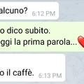 Tè o caffè?