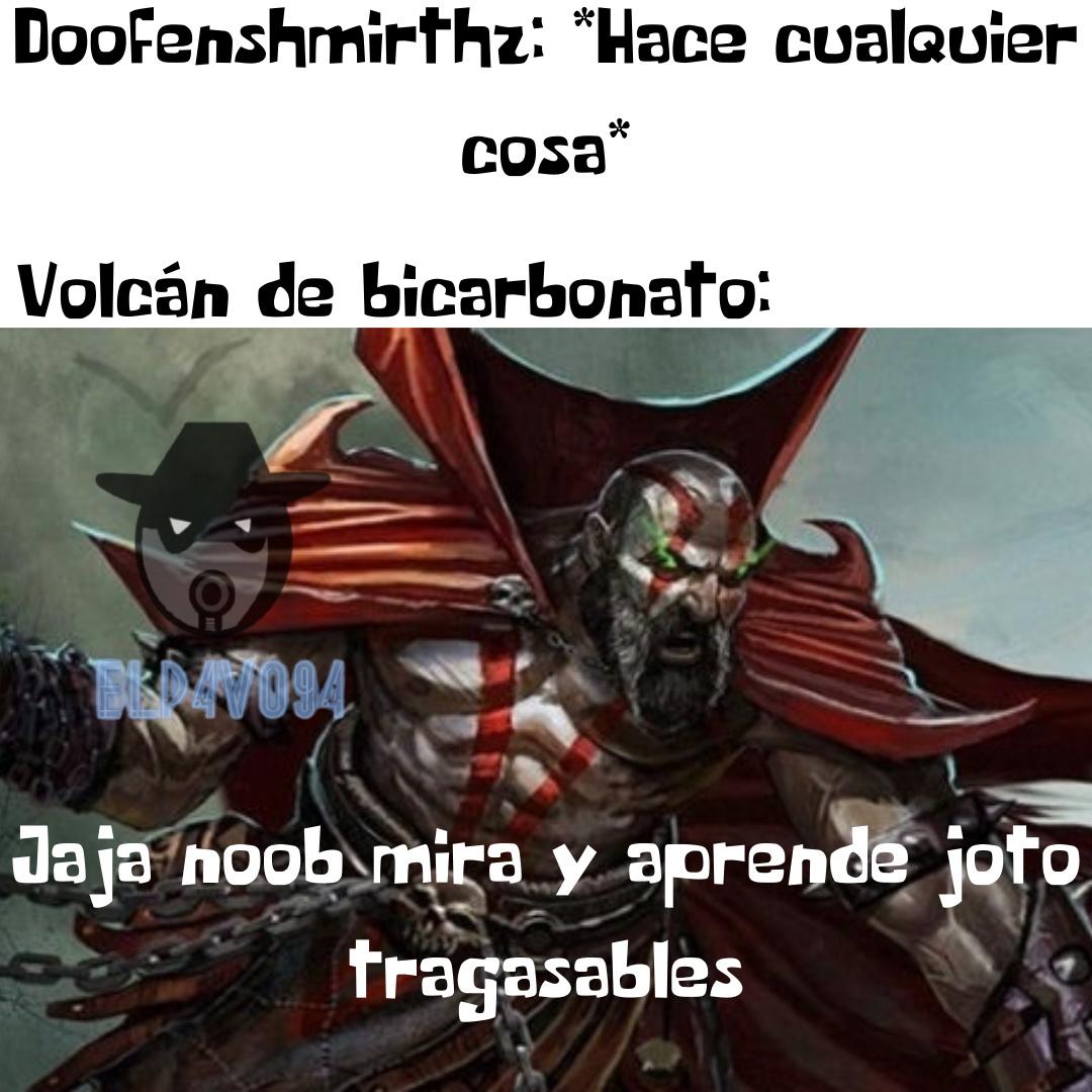 El volcan de bicarbonato es el verdadero enemigo de doof, pobre doof - meme